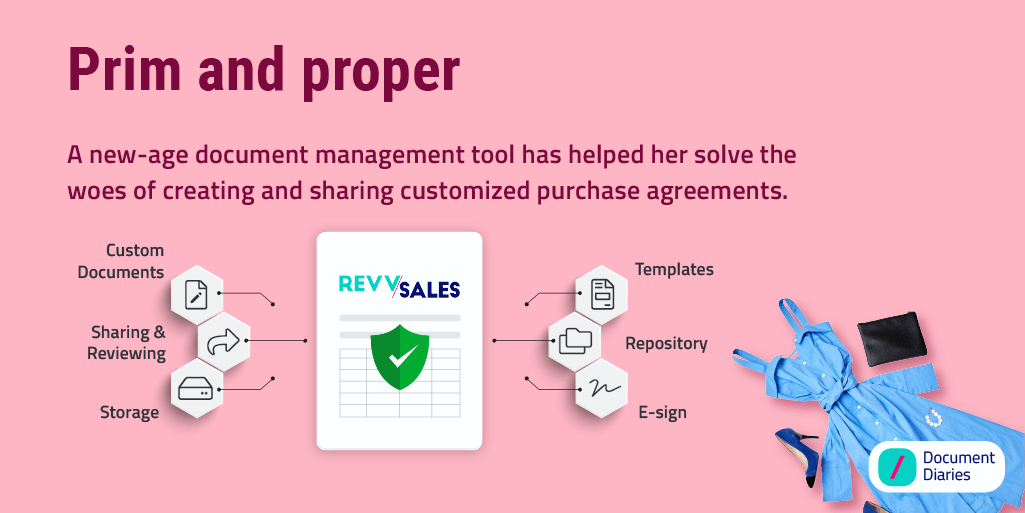 Creating and sharing documents like purchase agreement is quite easy with RevvSales