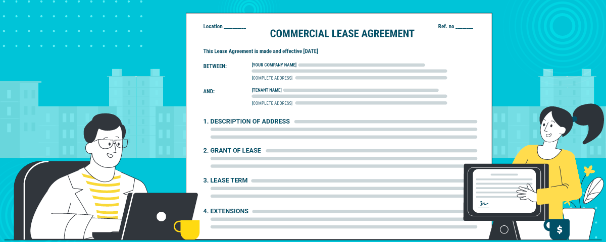 If you are looking for commercial lease agreement, here's a template for download
