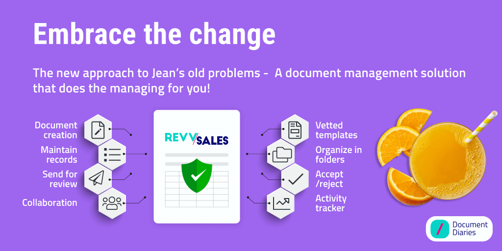 Embrace the process change of managing sales document templates with RevvSales