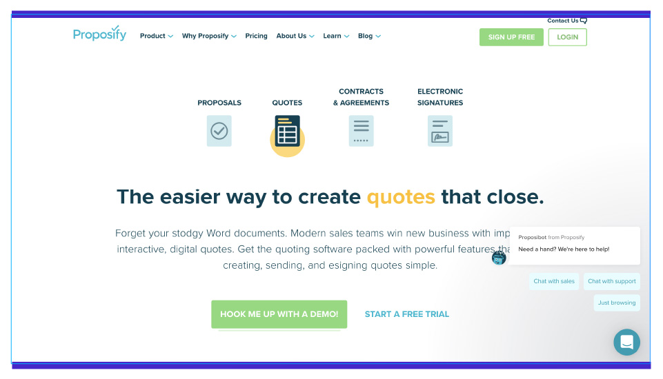 Generate quotes that helps to close deals faster with Proposify