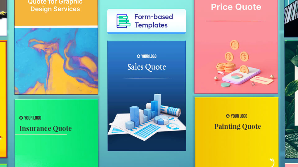 Sales quote templates in Revv