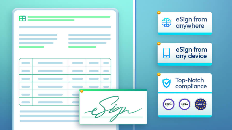 Electronic signatures are a safe, quick, and legally accepted alternative to wet signatures.