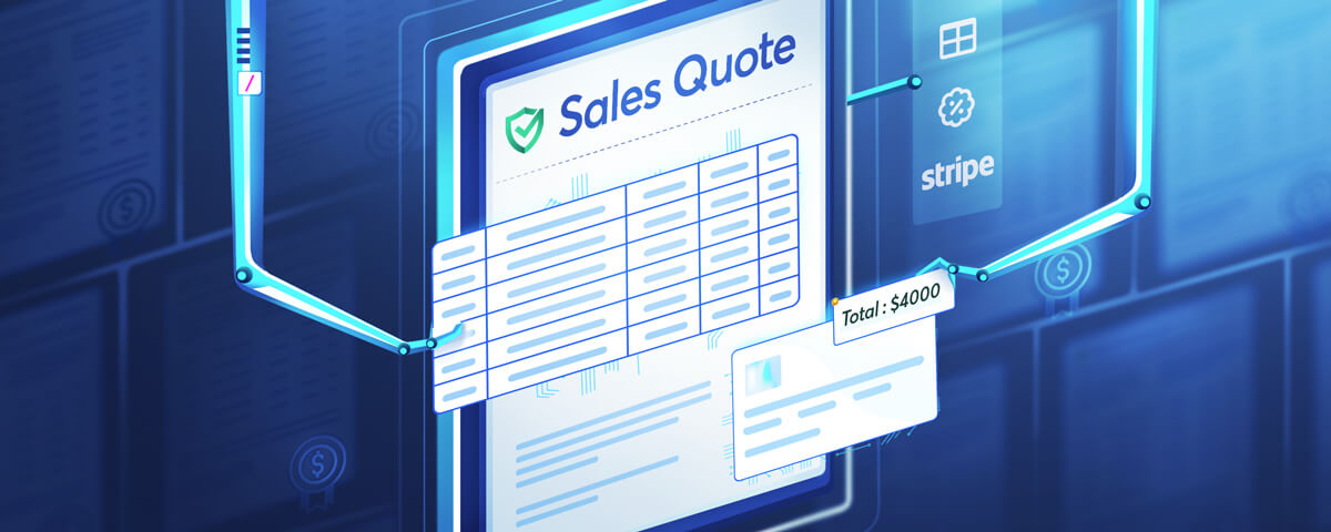 It is important to use a sales quoting software to create, manage, and automate all your sales documents.