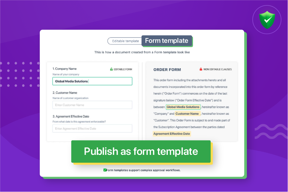 Simplify the document approval workflow process with form templates in Revv.