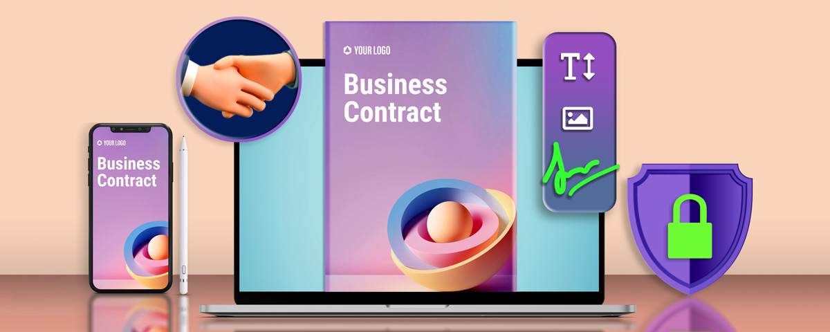 How do you draft an online or digital contract?