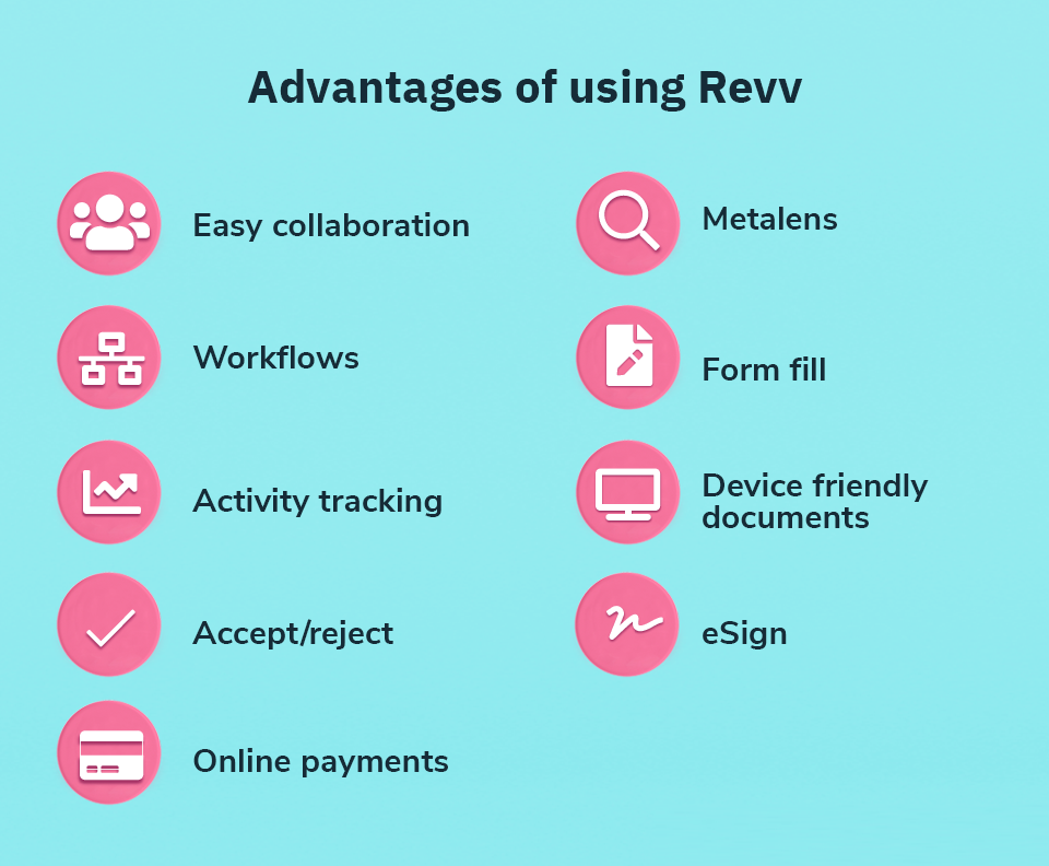 Revv offers a wide range of features that make contract creation a cakewalk.