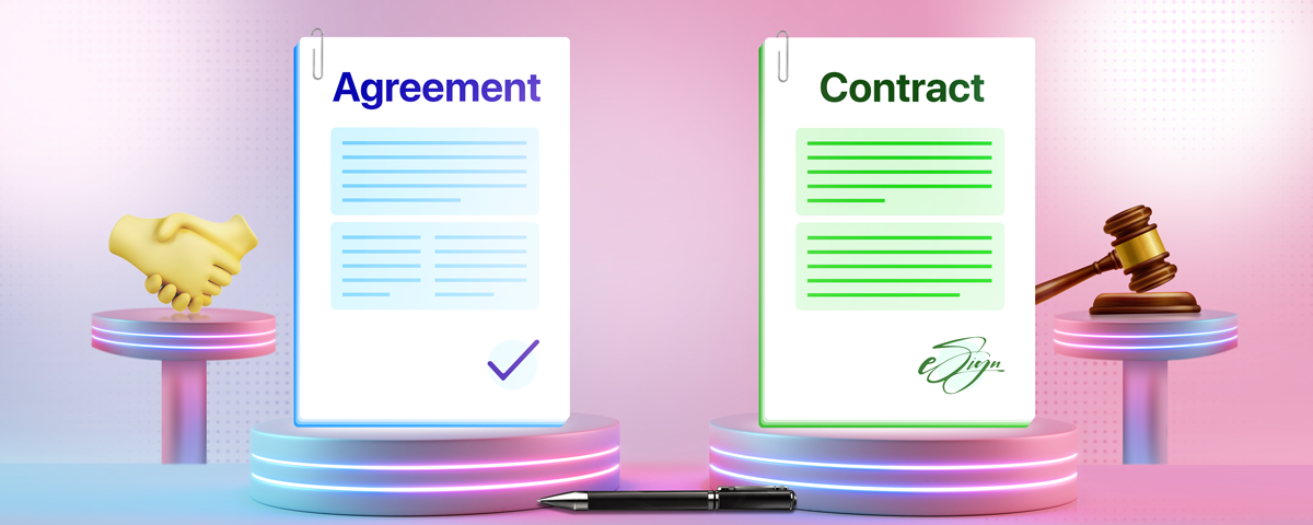 Agreements vs. Contracts - Learn the difference | A complete guide