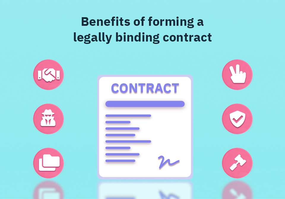 A legally binding contract has a lot of benefits as it safeguards your business in multiple ways.