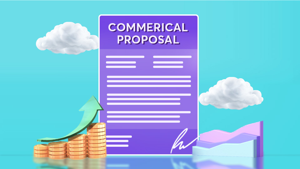 What are the elements of a commercial proposal template?