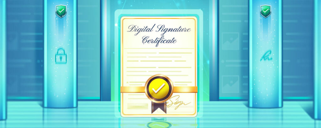 Know more about a digital signature certifacte and how to use it when required.