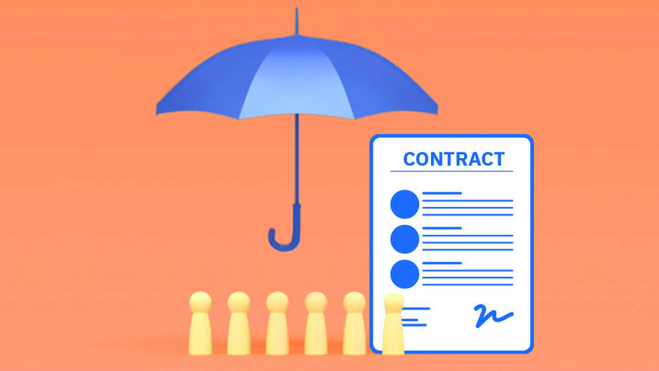 How do contracts protect the people who work for you?