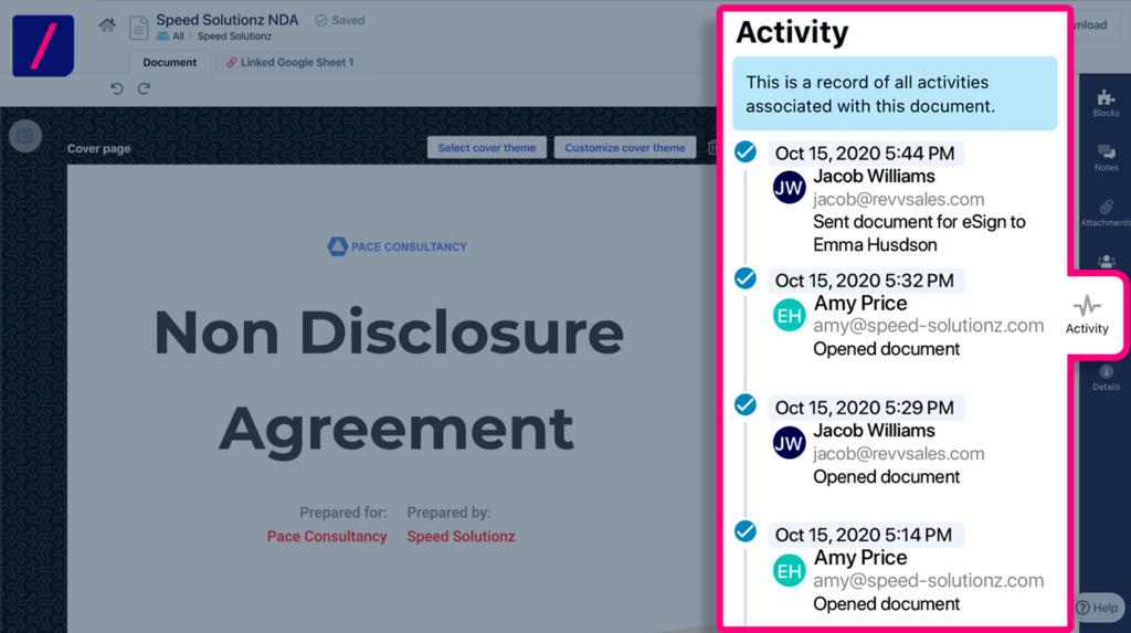 Build non-disclosure agreement (NDA) automation process.