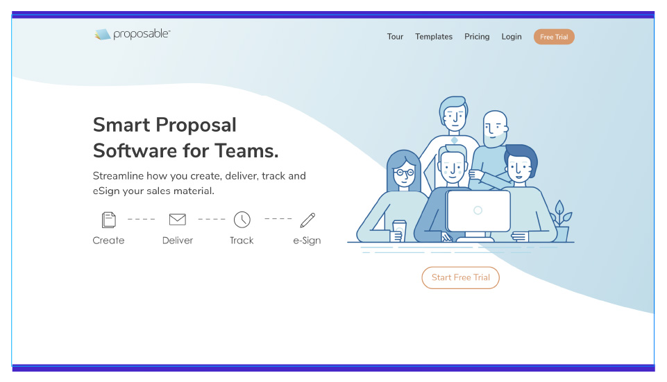 Create and deliver sales proposals in minutes with Proposify
