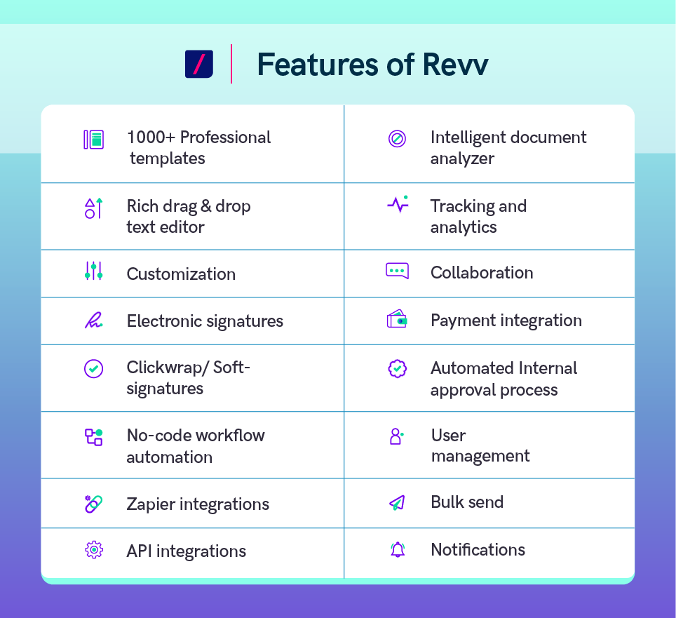 Compare and find your preferred e-signature solution among Revv, Adobe Sign, and DocuSign.