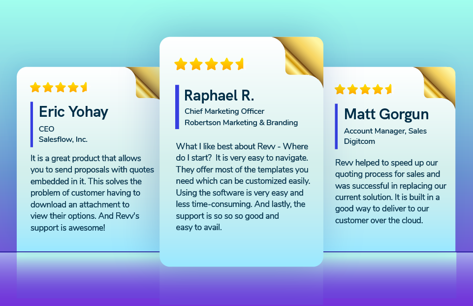 User Reviews of Revv - an all-in-one document workflow automation system.