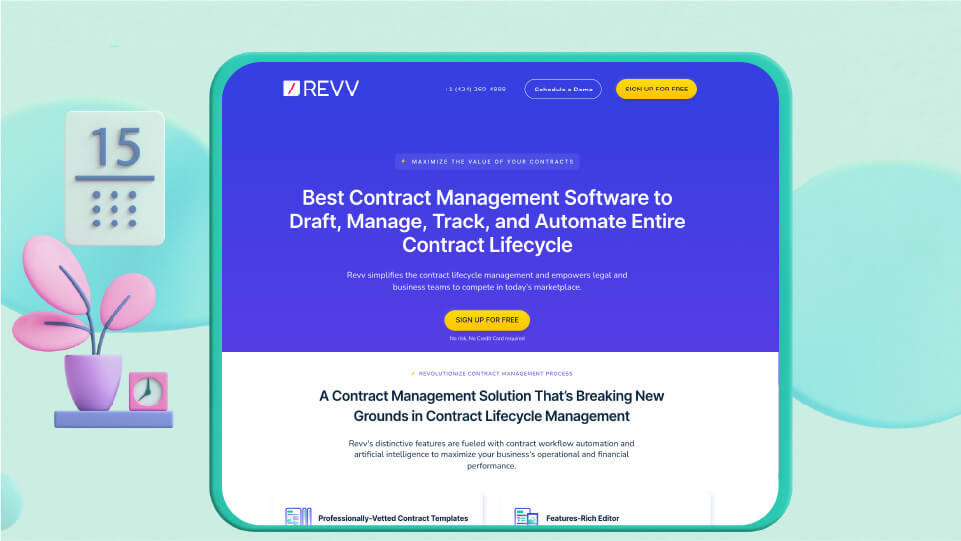 Revv is the best contract management software and document management platform to automate the entire contract lifecycle.
