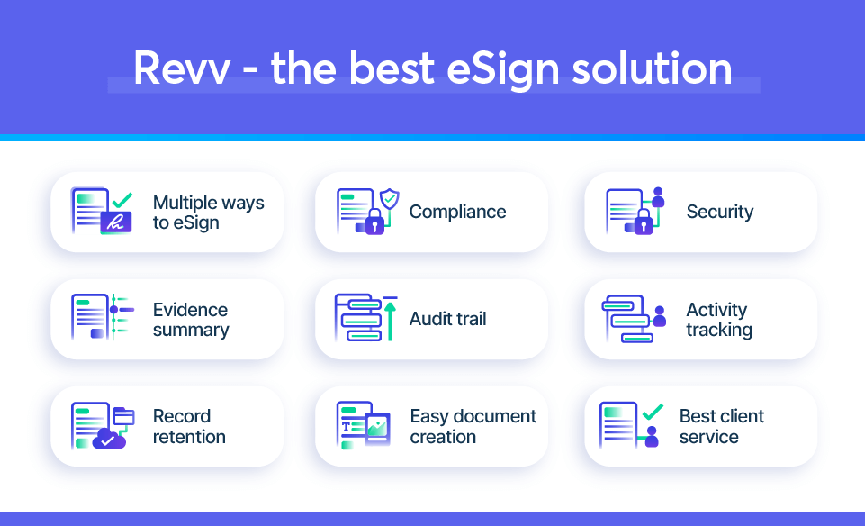 Revv is the perfect solution to send accounting and tax documents for eSign.