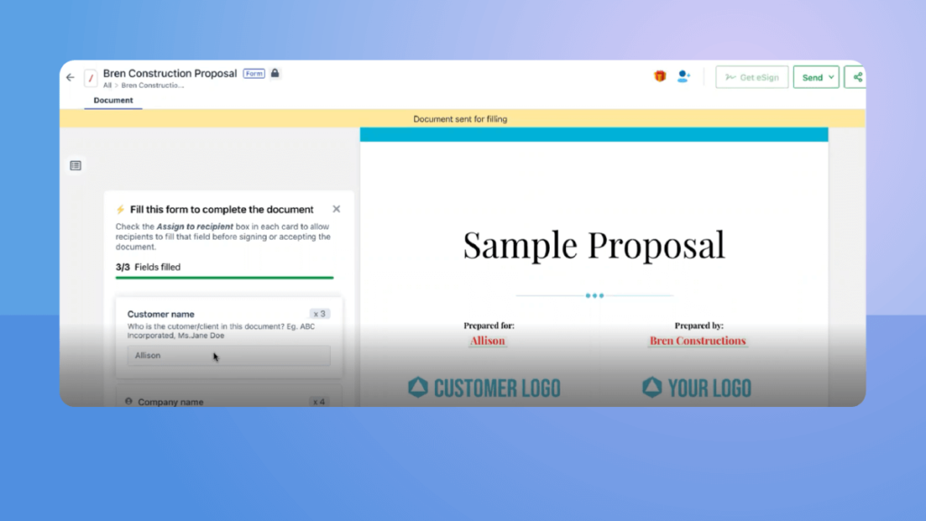 Revv captures customer data from Salesforce CRM and populates customized quotes.